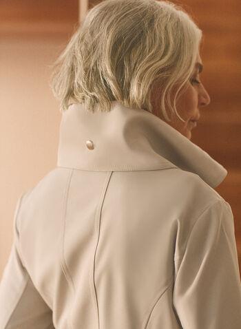 Novelti - Cinched Hemline Belted Trenchcoat, Grey,  coat, trench, cinched hemline, belt, high collar, flared, spring summer 2020