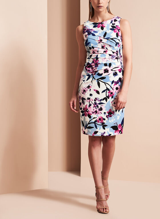 Ivanka Trump Floral Print Scuba Dress, Multi, hi-res