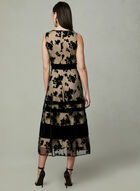 Taylor - Sleeveless Flocked Velvet Dress, Black, hi-res