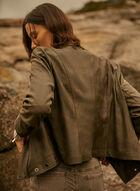 Vex - Zipper Detail Jacket, Brown