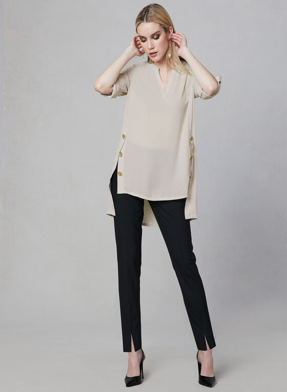 Joseph Ribkoff - Split Neck Blouse, Off White, hi-res