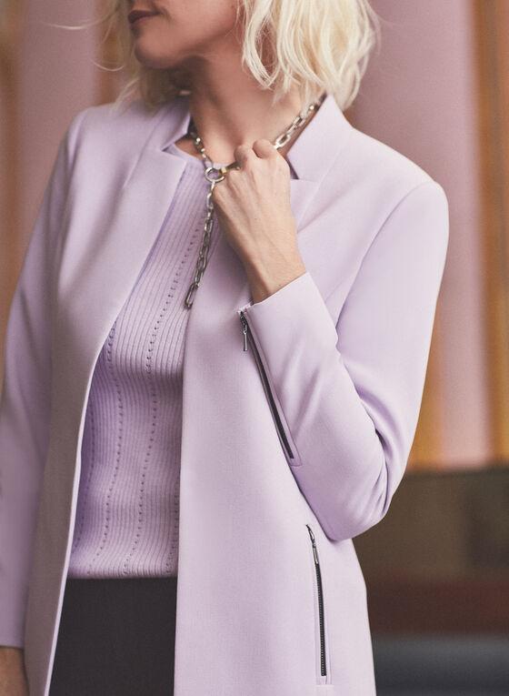 Veste redingote à détails zips, Violet
