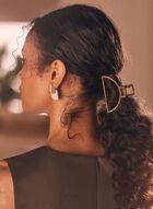 Half Moon Hair Clip, Brown