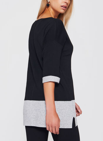 Colour Block Tunic Sweater, , hi-res