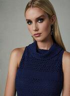 Adrianna Papell - Robe fourreau en dentelle , Bleu, hi-res