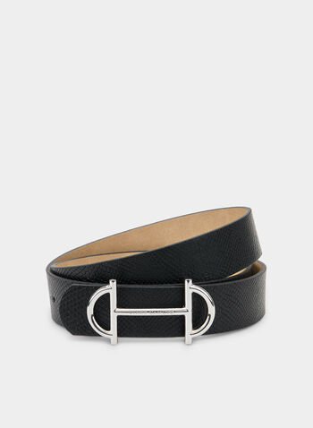 Vince Camuto - Horse Bit Buckle Belt, Black,  Vince Camuto, belt, fall 2019, winter 2019