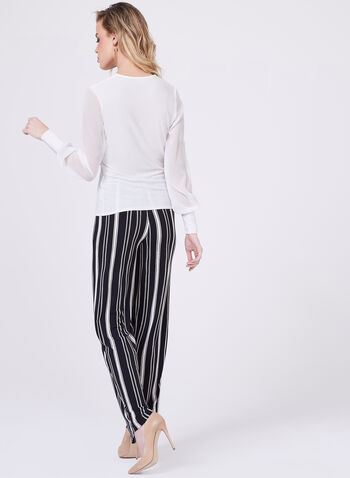 Jersey Surplice Blouse, Off White, hi-res