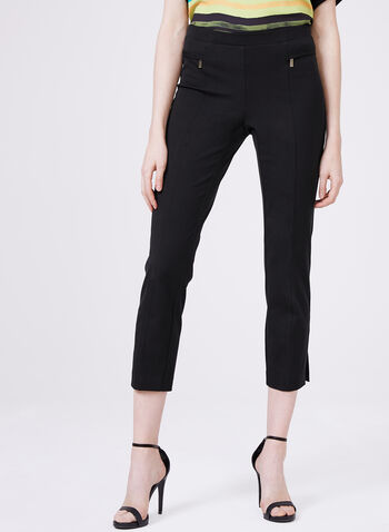 Conrad C - Pull-On Capri Pants, Black, hi-res