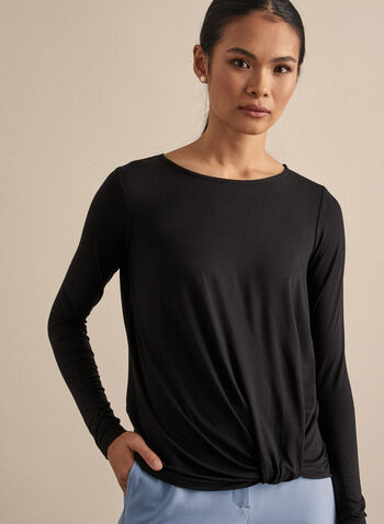 Twist Detail Top, Black,  top, long sleeves, spring 2020