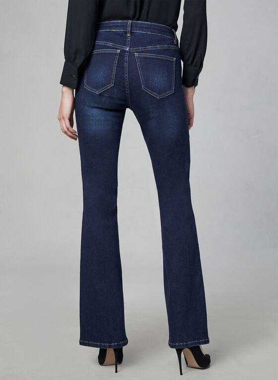 Sculpting Flare Leg Jeans, Blue, hi-res