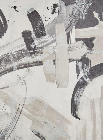 Foulard léger à imprimé abstrait, Gris, hi-res