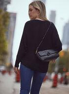 Dolman Sleeve Rib Knit Sweater, Black