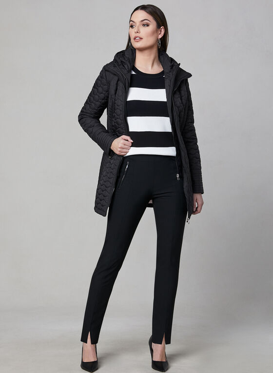 Chillax - Lightweight Quilted Coat, Black, hi-res
