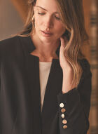 Inverted Notch Collar Jacket, Black