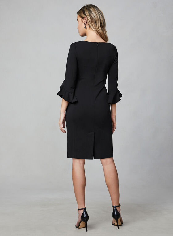 Karl Lagerfeld Paris - Tulip Sleeve Dress, Black