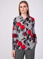 Floral Print Chiffon Blouse, Red, hi-res