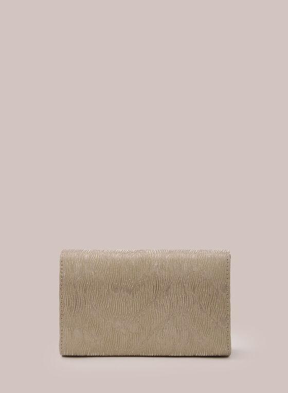Metallic Envelope Clutch , Yellow
