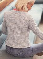 Open Front Knit Blazer , White