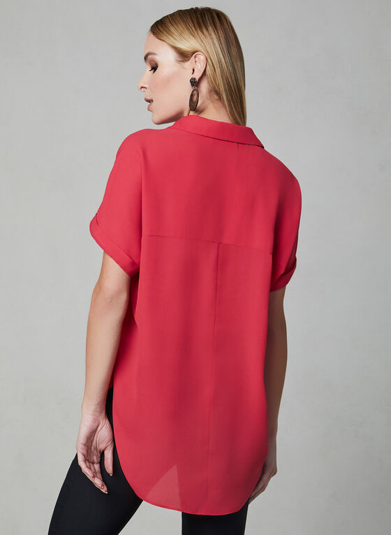 High Low Tunic Blouse, Pink, hi-res