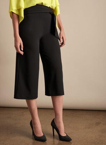 Joseph Ribkoff - Wide Leg Culottes, Black,  spring summer 2020, wide leg, crepe fabric