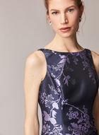 Adrianna Papell - Floral Motif Midi Dress , Blue