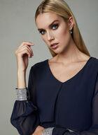 Frank Lyman - Crystal Embellished Chiffon Dress, Blue, hi-res