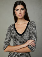 Taylor - Houndstooth Print Dress, Off White, hi-res