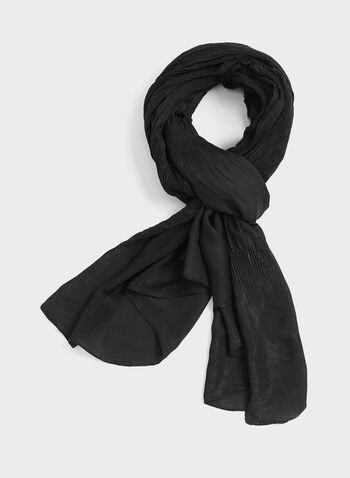 Ruched Evening Wrap, Black, hi-res