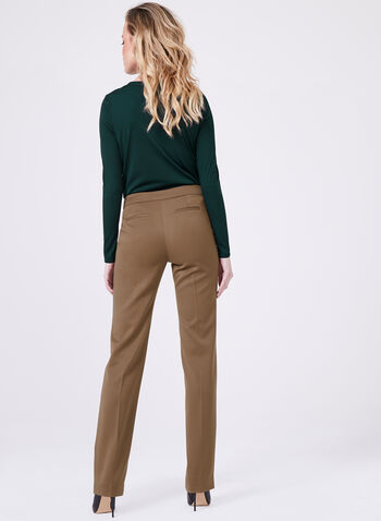 Lauren Tailored Fit Straight Leg Pants , Brown, hi-res
