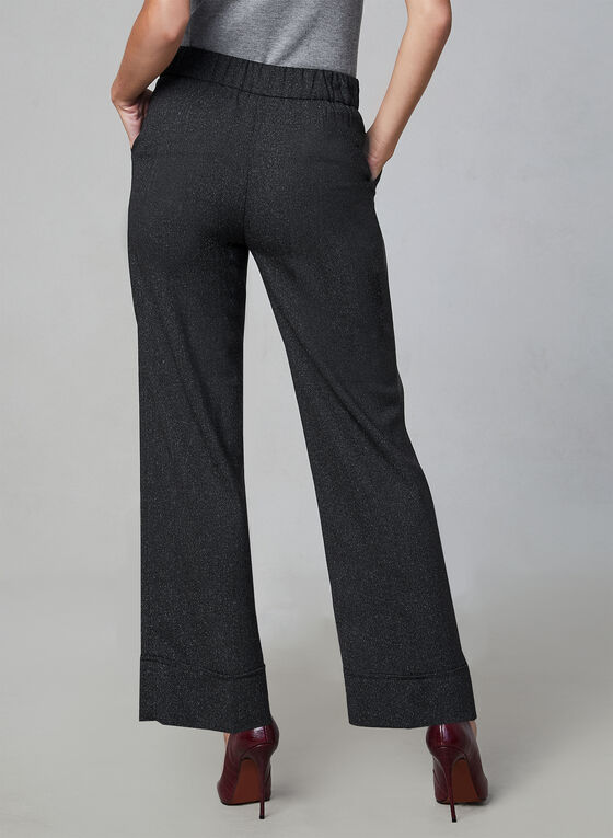 Pantalon chiné à taille pull-on, Noir, hi-res