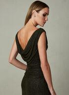 Cachet - Drape Neck Sequin Dress, Black, hi-res