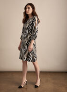 Animal Print Day Dress, Black