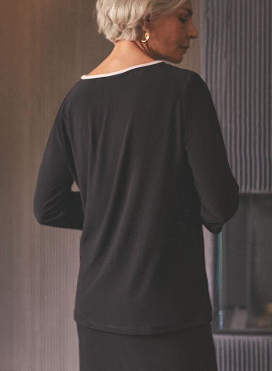 Joseph Ribkoff - Haut à détails contrastants , Noir