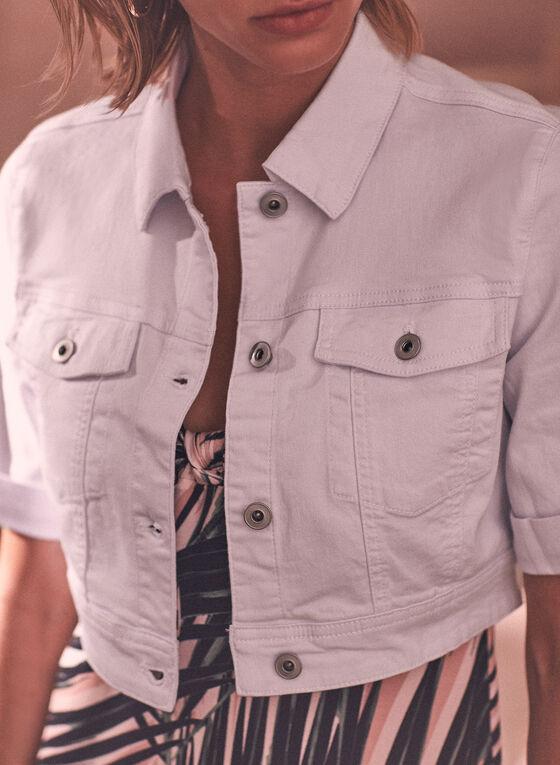 Charlie B - Cropped Denim Jacket, White