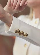 Veste redingote à boutons, Blanc cassé