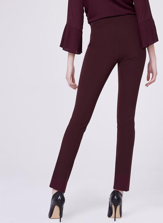 Louben - Slim Leg Scuba Pants , Red, hi-res