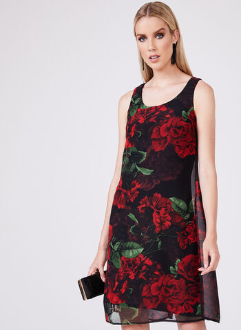 Compli K - Floral Print Dress, Red, hi-res