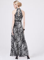 Maggy London - Belted Halter Maxi Dress, Black, hi-res