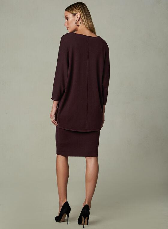 Linea Domani - Knit Dress & Sweater Set, Red, hi-res