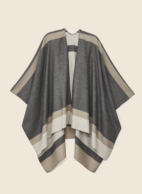Colour Block Shawl, Grey