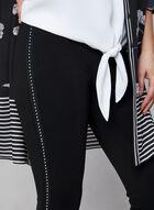 Pantalon pull-on à détails cloutés, Noir