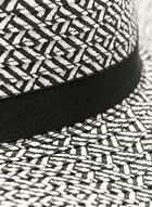 Floppy Brim Straw Hat , Black, hi-res