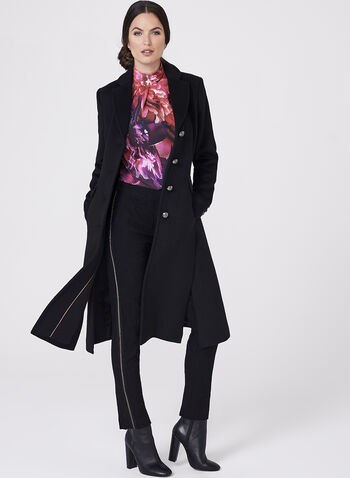 Novelti - Notch Collar Wool Blend Coat, , hi-res