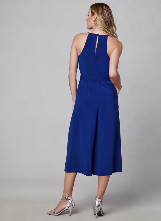 Cropped Wide Leg Jumpsuit, Blue, hi-res