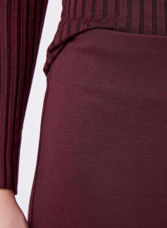 Pantacourt habillé à jambe large, Rouge, hi-res