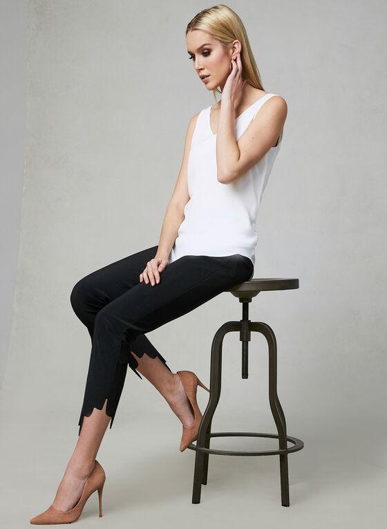 Joseph Ribkoff - Scallop Hem Slim Leg Pants, Black, hi-res