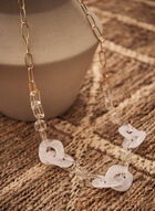 Mixed Link Necklace, White