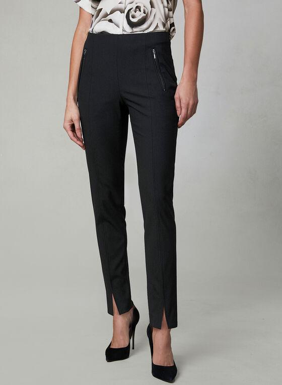 Amber Slim Leg Pants, Black, hi-res