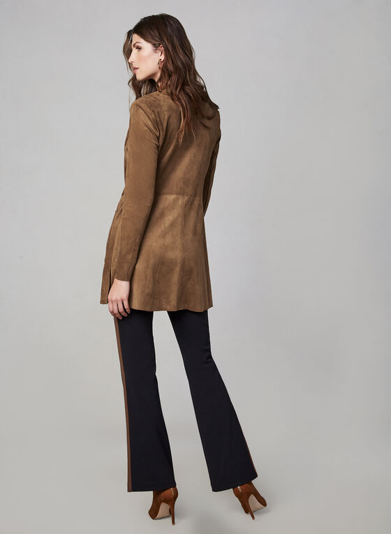 Faux Suede Jacket, Brown