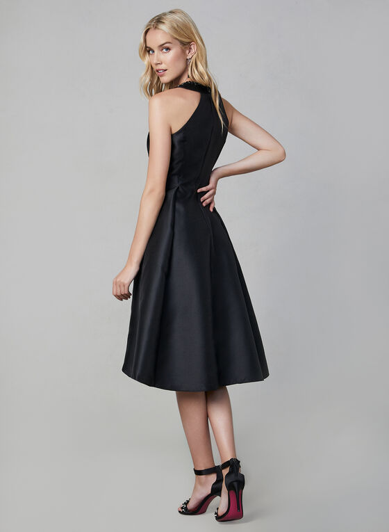 Adrianna Papell - Fit & Flare Dress, Black, hi-res